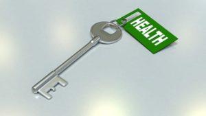 Obrázek klíček s visačkou Health