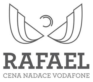 """Logo """"Cena Nadace Vodafone Rafael za ICT inovace pro kvalitnější život lidí se zdravotním postižením."""""""