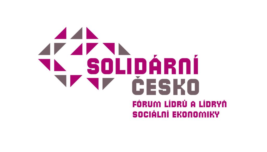 Logo konference Solidární česko s podtitulem Fórum lídrů a lídryň sociální ekonomiky.