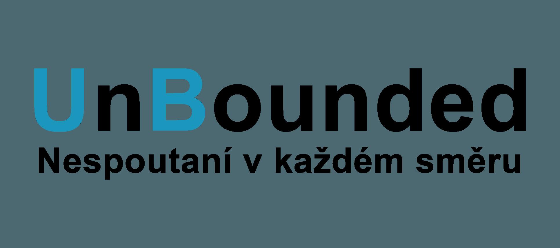Logo UnBounded, nespoutaní v každém směru