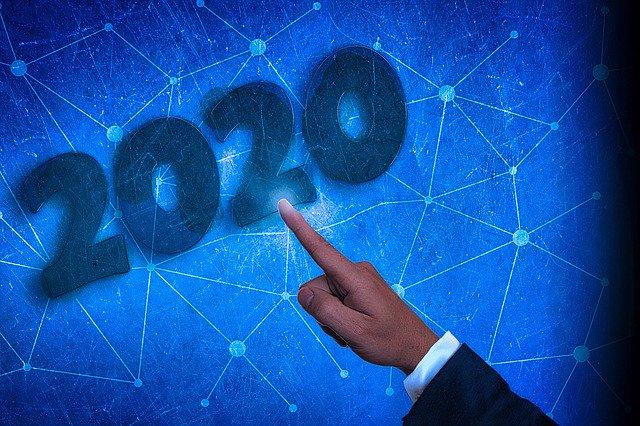 Číslice symbolizující rok 2020